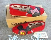 ADULT Minnie & Mickey Mouse Disney Toms with Glitter in any size!
