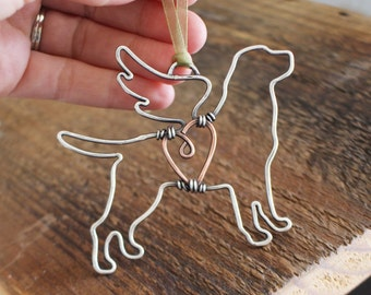 Dog Ornament, Wings, Sterling Silver, Keepsake