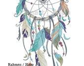 """Dreamcatcher Nr.3 Doodle 5x7"""" 13x18 cm Machine Embroidery Design"""