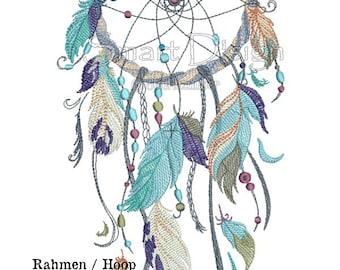 """Dreamcatcher Nr.3 Doodle 5 x 7"""" 13 x 18 cm Maschine Stickerei-Design"""