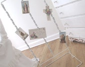 Vintage Display Stand * Shop Rack * CHRISTMAS CARD HOLER * Shabby Chippy White Cottage Paint