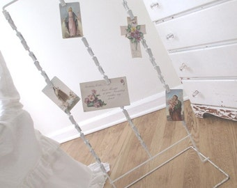 Vintage Display Stand * Shop Rack * Shabby Chippy White Cottage Paint