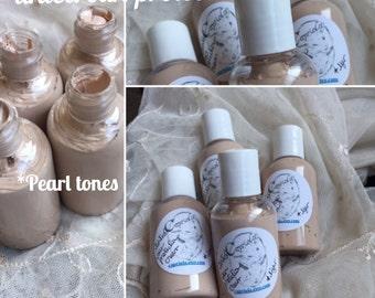 Tinted BB illuminating Pearl light skin makeup | CAMELINA oil | goat milk natural foundation minimal makeup | bare skin tinted moisturizer