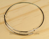 Set of 10 Expandable Bracelets Bangle in Silver (07-10-440)