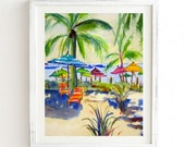 Caribbean Time - Weathered Framed Wall Art
