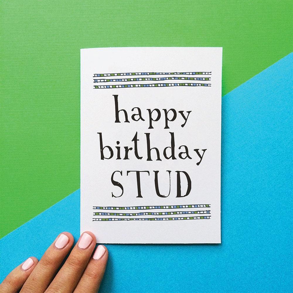 dude birthday card  etsy, Birthday card