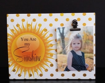 You Are My Sunshine Custom Wood Shelf Sitter / Wall Sign / Photo Holder / Art Block