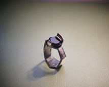 Beauty and the Beast  Ring  Black Spinel Modern Unisex Ring  Hand Made  ART sculpture  ring in silver for men or women