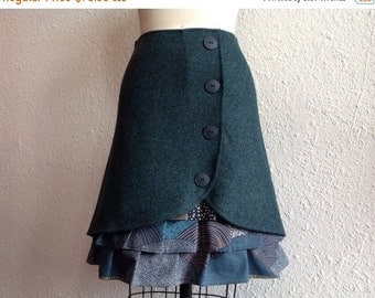 SALE Vivian wool ruffle front skirt Sz 0