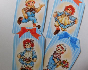 Raggedy Anne and Raggedy Andy Gift Tags - Set of 8