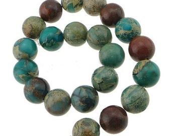 Aqua Terra Jasper Beads Strand 6mm