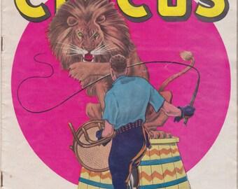 vintage 1948 Clyde Beatty circus souvenir program nice 1948 coke cola ad.