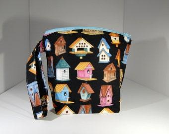 Mini zip - Lined Project Bag - 100% Cotton