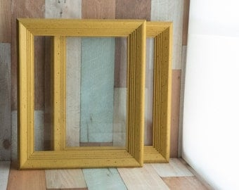 Two Vintage Yellow Frames