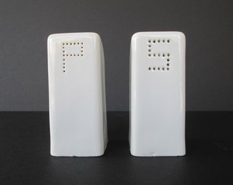 Modern White Salt & Pepper Shakers