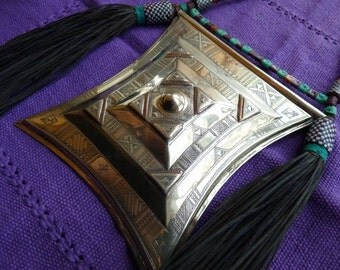 Very large prayer box necklace/wall hanging