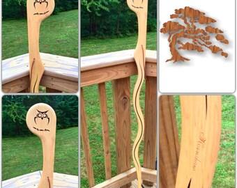 Maple - Owl - Walking stick