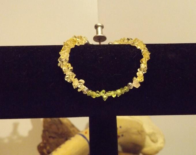 Citrine, Peridot, Crystal Bracelet, Healing Crystal and Gemstone Jewelry, Healing Jewelry, Healing Crystal and stones, Healing Bracelet