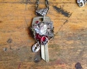 Valentine's Key Heart Lock Steampunk Necklace