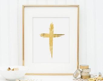 Gold Foil Cross