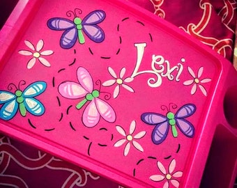 Personalized Lap Tray--Butterflys and Whimsy