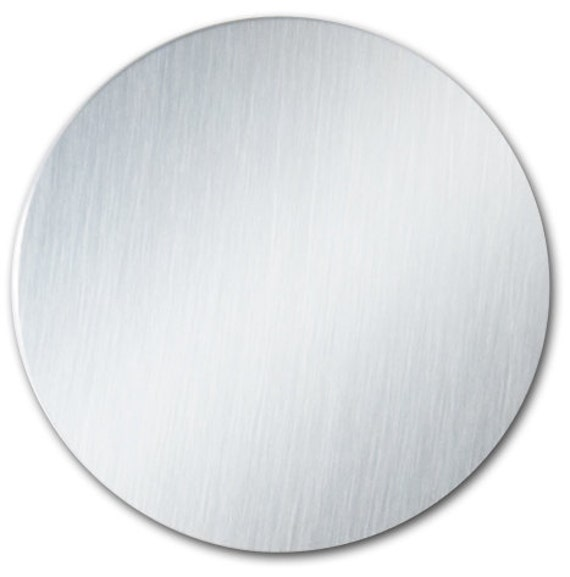 """5 - 2"""" Ornament Disc Blank with 22 Gauge Shiny Anodized Aluminum with PVC Protective Film"""