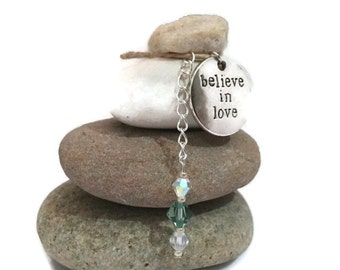 Believe in Love Rock Cairn, Adore, Wishing Stones, Positive Energy, Friendship, Zen, Amour, Affection, Devotion, Looking for Love, Desk Gift
