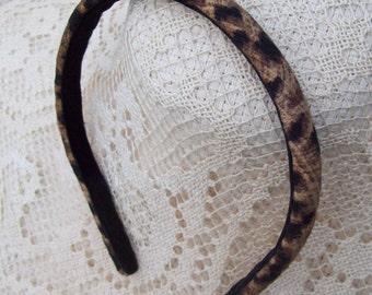 tiny leopard headband