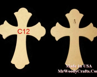 """6"""" x 9""""  1/2"""" Thick Wooden Crosses ready for painting, made in USA, ships in less then 5 days 060950 1-18"""