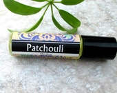 Patchouli Roll On Perfume, classic herbal scent, concentrated vegan formula