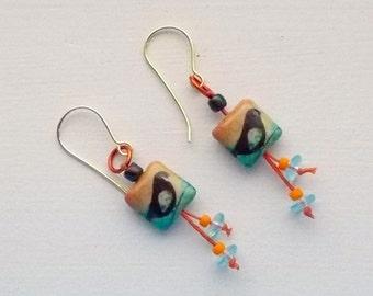 Earrings, birds