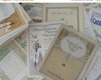20PercentOff 3 Sets of Scrumptious Antique Music Sheets