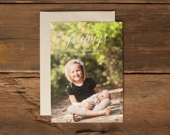 Custom Holiday Photo Cards - Personalized Christmas Card - Season's Greetings