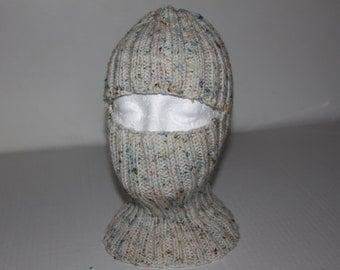 white confetti yarn ski mask