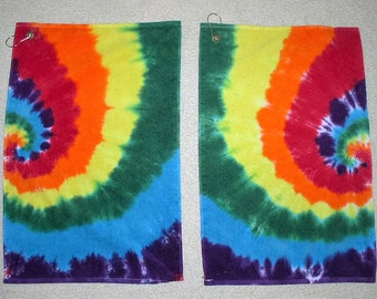 Golf Towels, tie dyed, 100% cotton. GT1,2.