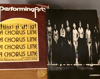 A Chorus Line Booklet Theater Program Guide Stage Book Set of 2 August 1977 New York Shakespeare Festival Production San Francisco