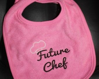 Embroidered Baby Bib- Future Chef