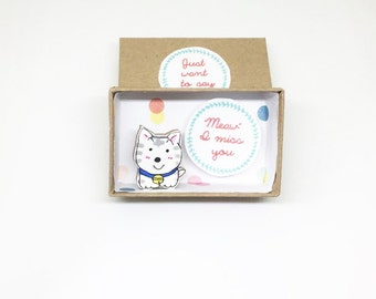 I miss you card / Message Box/ Miss U Card / Kitty Card/