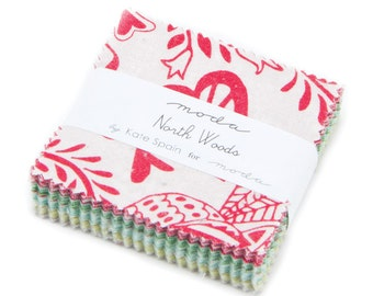 SUMMER SALE - Mini Charm Pack - North Woods - Kate Spain for Moda Fabric