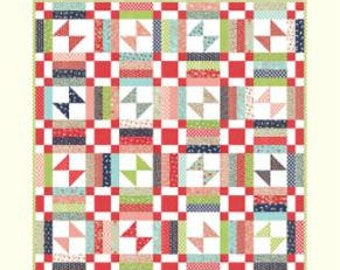 SPRING SALE - In Stock - Quilt Kit - Picnic - Vintage Picnic fabric by Bonnie and Camille