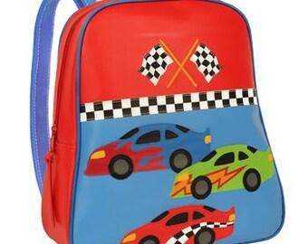 Vinyl Stephen Joseph Go Go Racecar Backpack Diaperbag