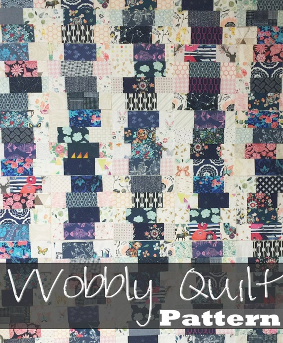 Quilt Patterns 4 Different Fabrics : Wobbly Quilt Pattern 4 different quilt by SouthernCharmQuilts