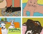 Custom ILLUSTRATED pet portrait, pet portrat, pet illustration, pet drawing, dog portrait, cat portrait, dog illustration, cat drawing