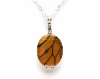 Monarch Real Butterfly Wing Necklace Pendant
