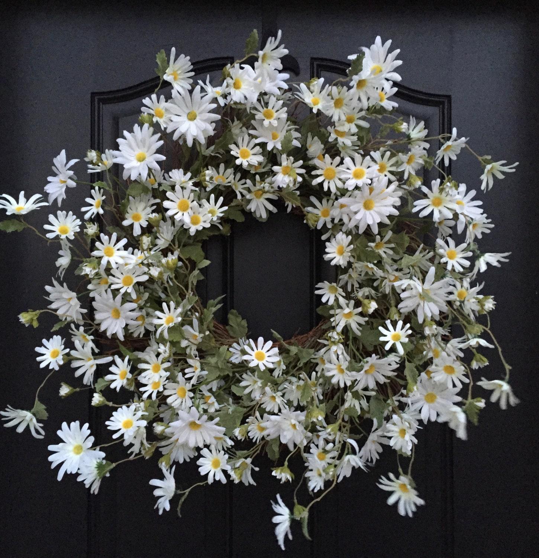 Spring Wreath Spring Daisy Wreaths White Daisy Wreath White