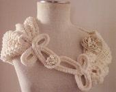 Ivory bolero,knithing bolero , bridal shurg, bridal ivory shoulder cover, bridemaids shoulder cover, bridal shawl, wedding shurg , handmade