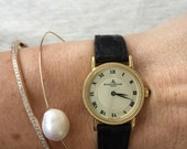 Reserved, Second Payment, Gorgeous Vintage Baume and Mercier Ladies 18k Yellow Gold Roman Numeral Wrist Watch
