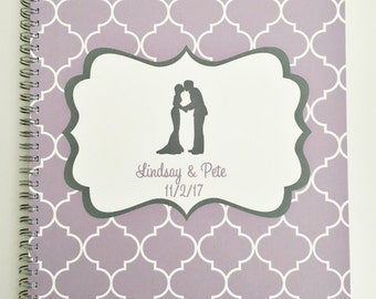 Custom Wedding Planner, Bridal Planning Book, great engagement gift, bridal, plan, engagement, choose colors and more