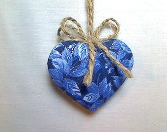 Navy/Blue Heart Ornament | Valentines Day | Spring Decor | Party Favor | Birthday | Tree Ornament | Holidays | Decoration | Handmade | #2