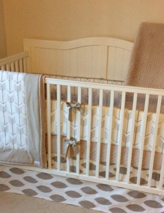 Taupe Arrows Gender Neutral Baby Bedding Crib Set Deposit